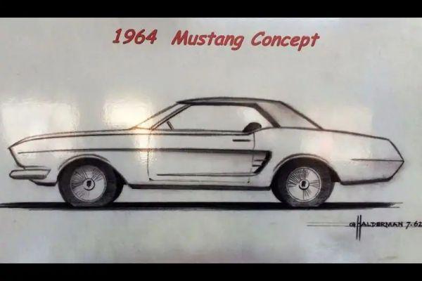 Ford Mustang schets Halderman