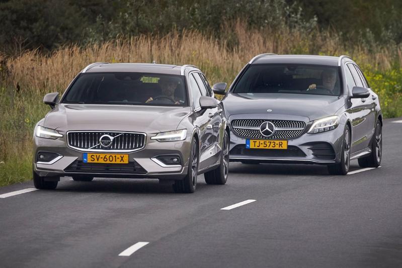 Mercedes-Benz C-klasse vs. Volvo V60 - Dubbeltest