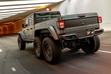 Jeep Gladiator nu ook met zes wielen