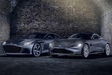 Aston Martin DBS Superleggera en Vantage in Bond-stijl