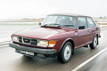 Door Trollhättan met een Saab 99 Turbo