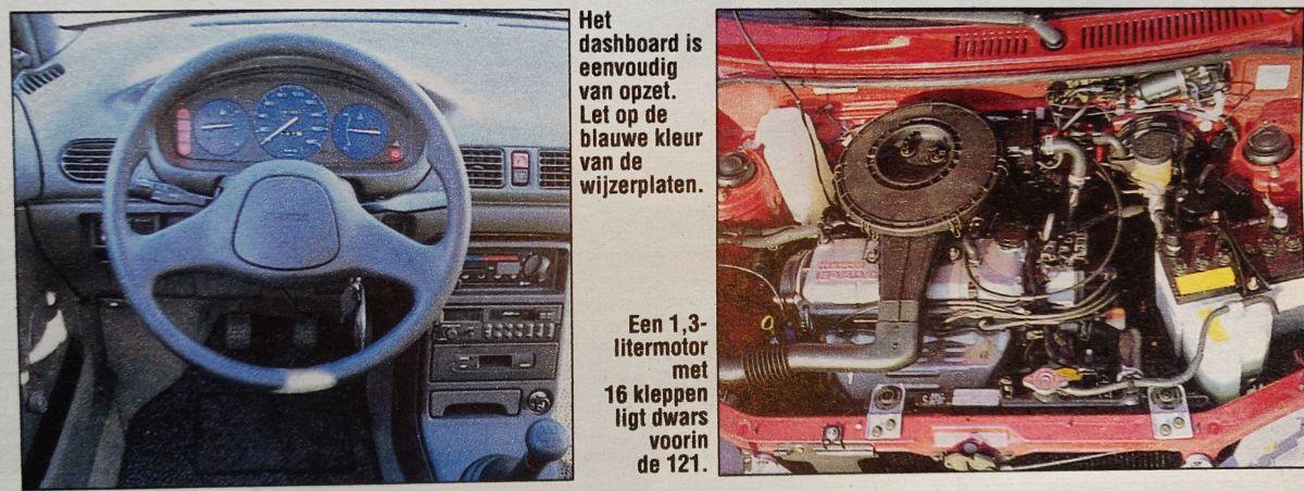 Mazda 121 rijtest 1991