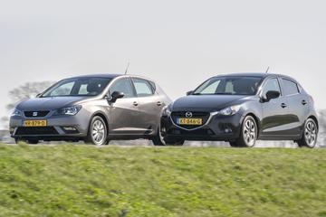Seat Ibiza (2015) vs. Mazda 2 (2016) - Occasion dubbeltest
