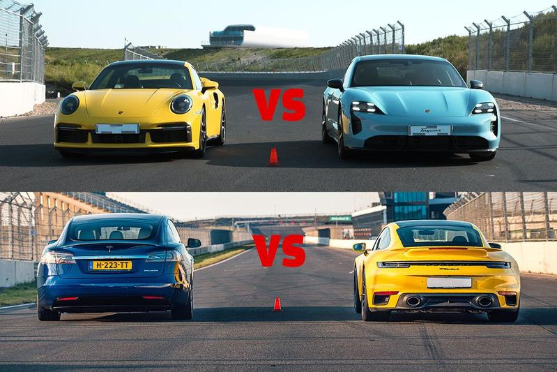 Porsche 911 Turbo S vs. EV's - Dragrace