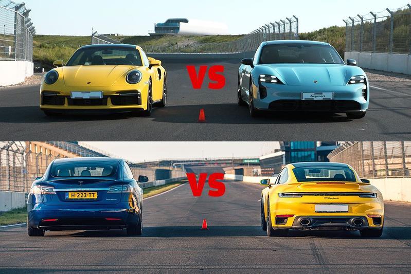 Porsche 911 Turbo S vs. EV's - Dragrace