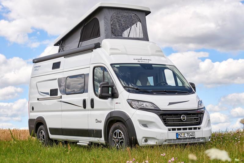 Karmann-Mobil camper uitzicht klapdak