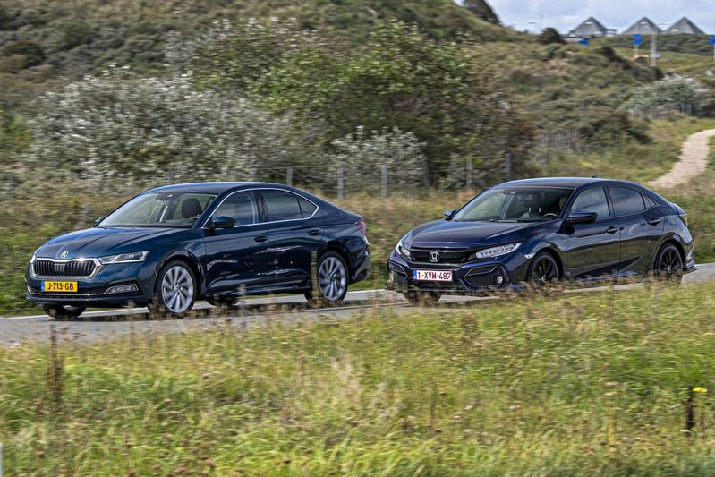 Honda Civic 1.5 Turbo - Skoda Octavia 1.5 TSI - Dubbeltest