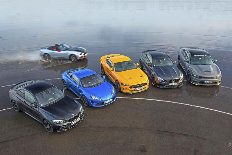 Abarth 124 Spider - BMW M2 - Alpine A110 - Ford Mustang - Mercedes-AMG C 63 S - Dodge Charger SRT