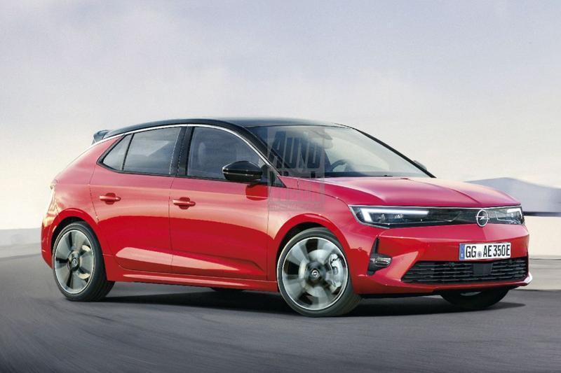 Opel Astra render schets