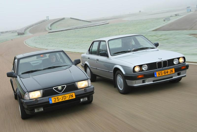 Occasion dubbeltest - BMW 320i vs Alfa 75 V6