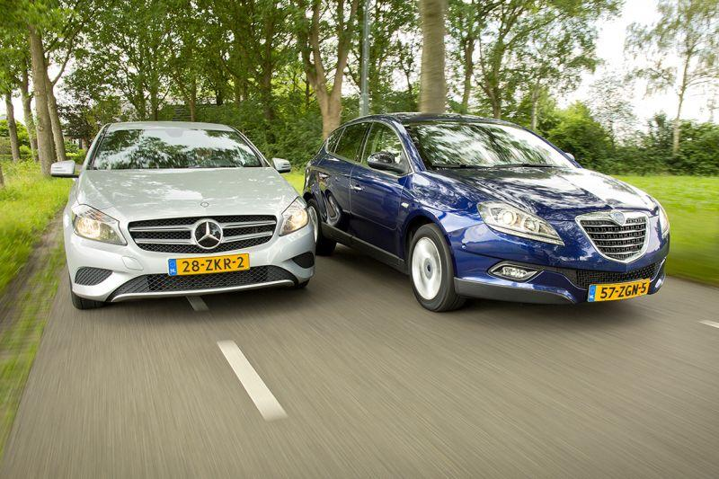 Mercedes-Benz A180 BlueEfficiency vs. Lancia Delta 1.4 Multiair