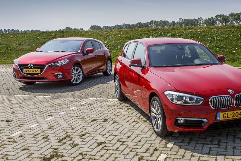 Dubbeltest - BMW 116i vs Mazda 3 2.0