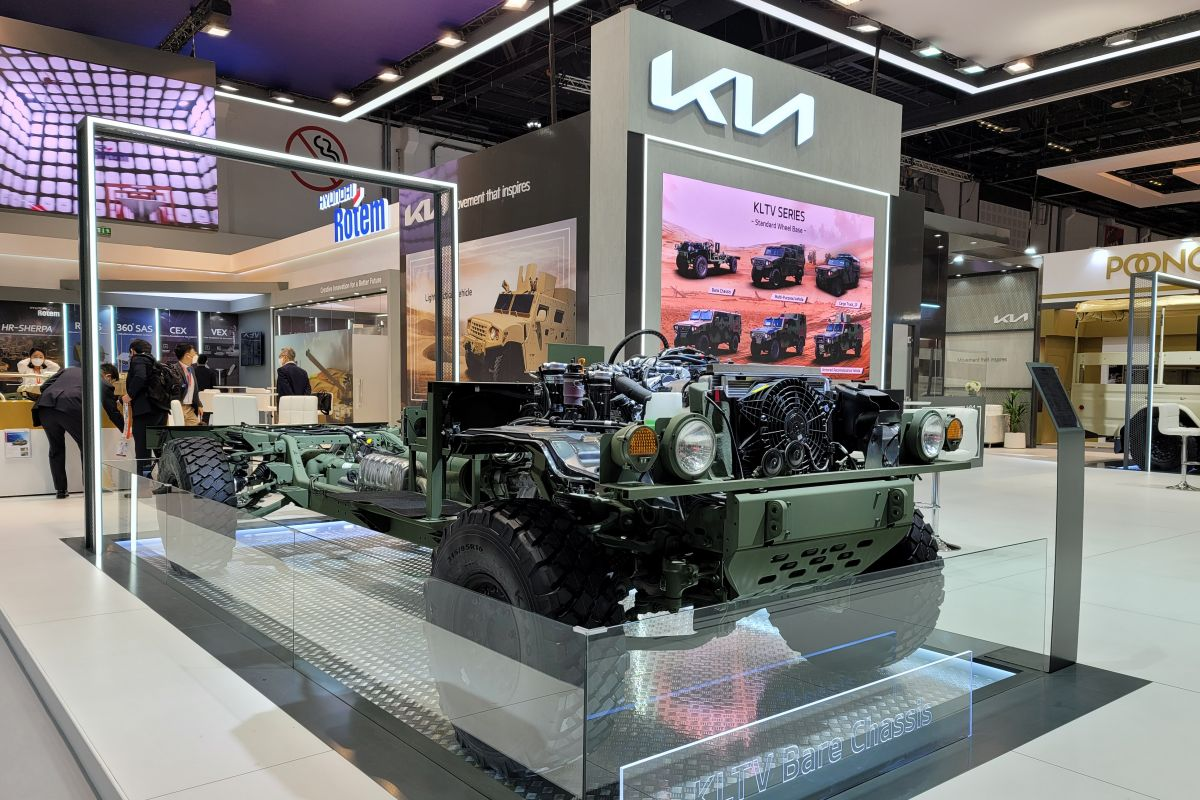 Kia Light Tactival Cargo Truck en Bare Chassis Concept