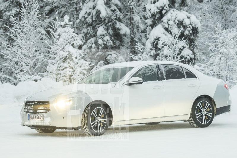 Mercedes-Benz E-klasse facelift spyshots