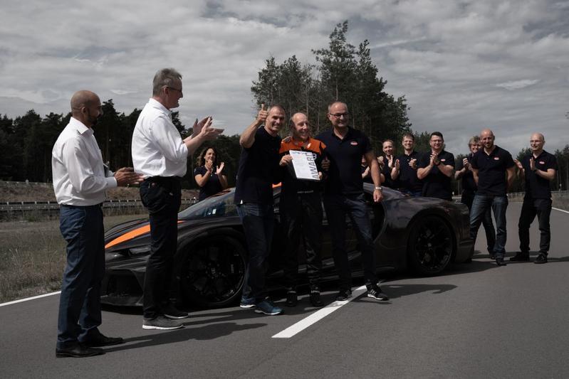 Bugatti Chiron snelheidsrecord 300 mp/h