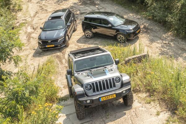 Jeep Wrangler, Range Rover Evoque, Kia Sportage