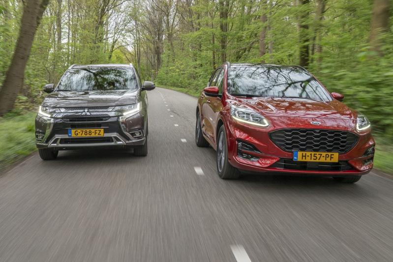 Ford Kuga PHEV - Mitsubishi Outlander PHEV - Dubbeltest