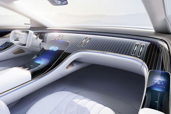 Mercedes-Benz EQ Concept nu vanbinnen