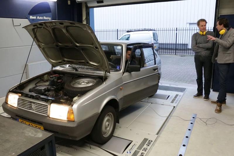 Citroën Axel 12 TRS - Op de Rollenbank
