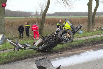 Ferrari F430 crasht in Zeewolde