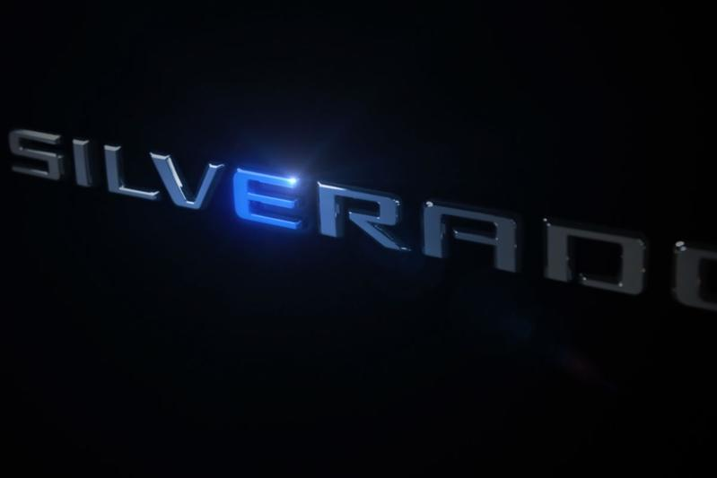 Chevrolet Silverado electric teaser