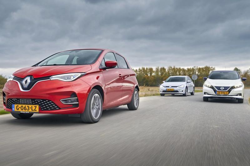 Nissan Leaf - Renault Zoe - Volkswagen e-Golf - Triotest