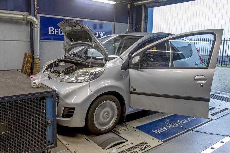 Peugeot 107 1.0-12V - Op de Rollenbank