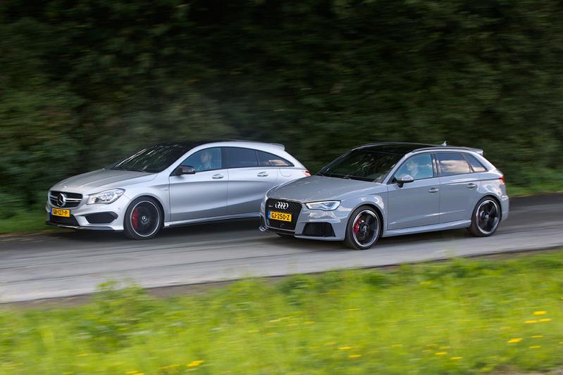 Dubbeltest - Audi RS3 vs Mercedes CLA 45 AMG