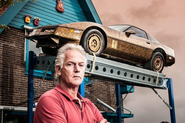 Gouden kunst-Corvette te koop