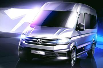 Volkswagen schetst nu ook buitenkant Crafter