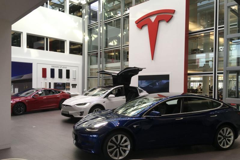 Tesla dealer showroom
