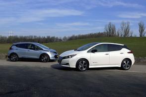 Nissan Leaf vs. Opel Ampera-e – Dubbeltest