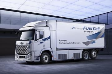 Waterstofvrachtwagen Hyundai Xcient Fuel Cell vernieuwd