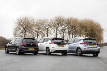 Nissan Leaf - Opel Ampera-e - Volkswagen e-Golf