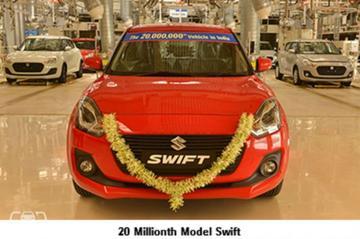 Maruti Suzuki bouwt 20 miljoenste in India