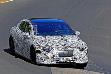 Elektrische Mercedes-Benz EQS betrapt!