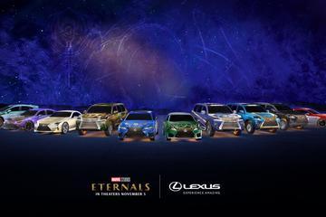 Lexus kleedt modellen aan als 'Eternals'