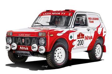 Lada Niva klaar voor Dakar