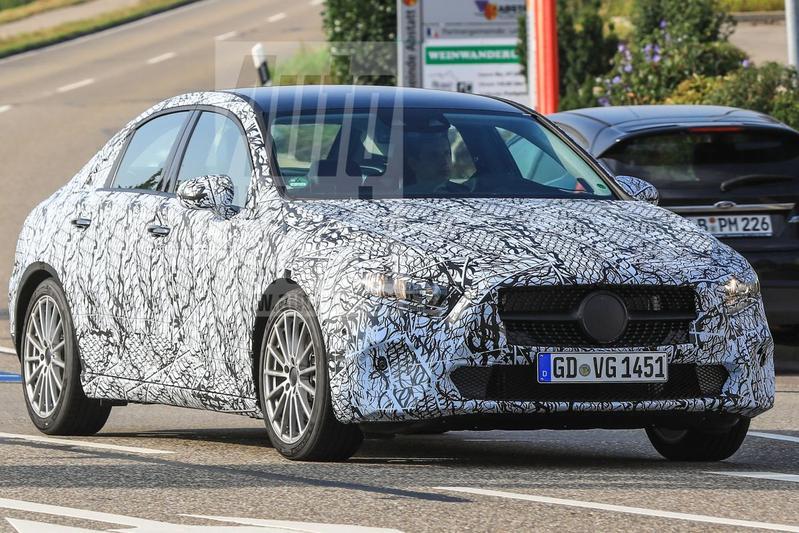 Nieuwe Mercedes A-klasse Sedan gespot