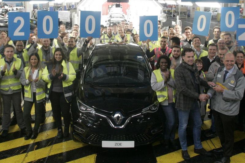 Renault Zoe Flins fabriek productiemijlpaal