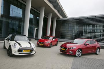Mini Cooper vijfdeurs - Volvo V40 T2 - Mazda 3 SkyActiv-G 120