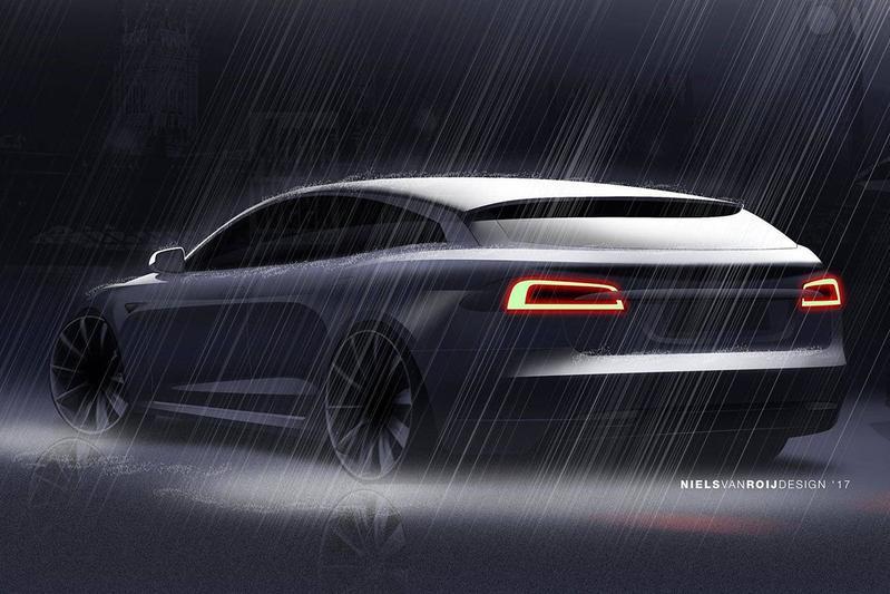 Geschetst: Tesla Model S Shooting Brake
