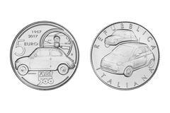Fiat 500's verjaardagsmunt